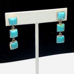 🌺Vintage Jay King Sterling & Turquoise Earrings